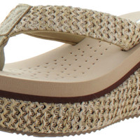 Volatile Coastal Women's EVA Wedge Thong Sandals