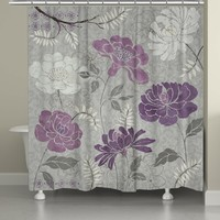 Purple Morning Tones Shower Curtain