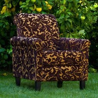 angelo:HOME Harlow Chair - Java Brown Velvet - Accent Chairs at Hayneedle