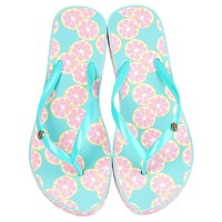 Printed Flip Flops in Main Squeeze by Lauren James