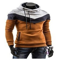 Free shipping! 2017 New Autumn&Winter Men's Slim Thicker Hooded Pullover Sweatshirts Mixed Colors male tracksuits hoody jacket