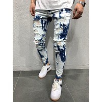 MENS STREET STYLE WASHED JEANS 4634