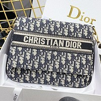 Dior Fashion New More Letter Canvas  Shoulder Bag Crossbody Bag