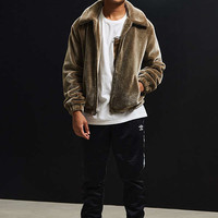 UO Faux Fur Tan Jacket | Urban Outfitters