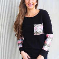 Sequin Glam Knit {Black}