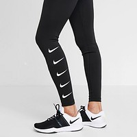 Nike Women Fashionable Print Yoga Sport Stretch Pants Trousers Sweatpants