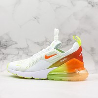 Nike Air Max 270 Summer Vibe White Green Orange Running Shoes - Best Deal Online