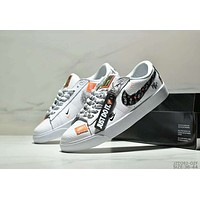 NIKE SB Blazer Low GT Just Do It Tide brand couple casual sports shoes White