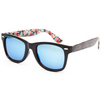 Full Tilt Annie Floral Sunglasses Black One Size For Women 26028010001