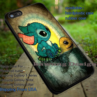 Stitch and Turtle Cute Art iPhone 6s 6 6s+ 5c 5s Cases Samsung Galaxy s5 s6 Edge+ NOTE 5 4 3 #cartoon #animated #disney #Lilo&Stitch dt