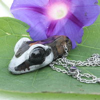 Ball Python Snake head Ceramic jewelry