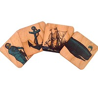 Wood Coasters Nautical