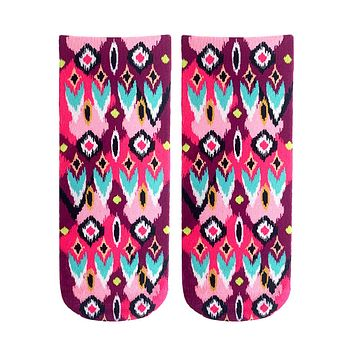 Ikat Ankle Socks