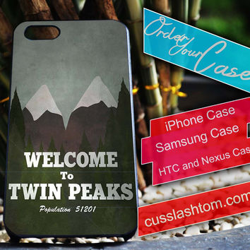 Exclusive twin peaks iPhone for 4 5 5c 6 Plus Case, Samsung Galaxy for S3 S4 S5 Note 3 4 Case, iPod for 4 5 Case, HtC One M7 M8