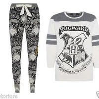 NEW PRIMARK HARRY POTTER HOWARTS Womens Ladies Pyjamas Leggings T Shirt UK 6-20
