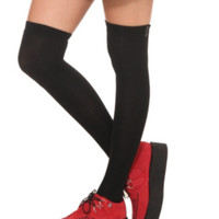 LOVEsick Black Over-The-Knee Socks