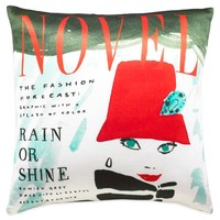 kate spade new york Rain or Shine Square Throw Pillow in Red/Multi