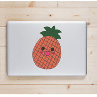 """Pineapple Kawaii Die Cut Sticker // Cute Japanese // Computer & Tablet XL Size // 8"""" // Perfect For Indoor, Outdoor, Laptop, Car"""