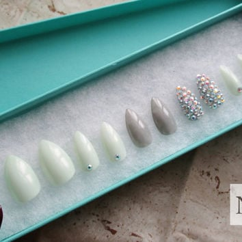 3d Nails | Press On Nails | Rhinestones | False Nails