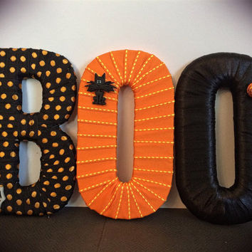 Halloween Decor- Decorative Letter Set by Tightly Wound Designs