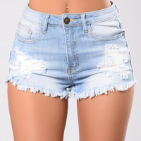 Venice Shorts - Light Wash
