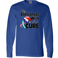 My Christmas Wish is a Cure Thyroid Cancer awareness Long Sleeve T-Shirts