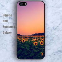 Sunflower iPhone 5/5S case Ipod Silicone plastic Phone cover Waterproof