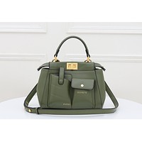 Fendi Women's Leather Shoulder Bag Satchel Tote Bag