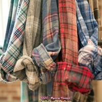 Mystery Vintage Flannel Shirts -OverSize Flannels- Pick Your Size & Color