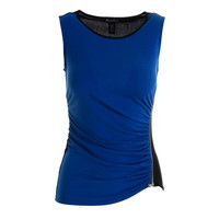 Kenneth Cole New York Womens Ruched Knit Pullover Top