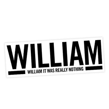 """The Smiths """"William it was really nothing"""" Lyric Sticker"""