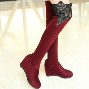 Hot style sells lace lace boots over the knee shoes