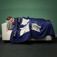 Multi-function Anime Doctor Who TARDIS Blankets Coral Fleece Police Box Carpet Throw Blankets Blue Bed sheet 127*226cm