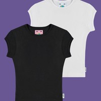 Cap Sleeve Baby Tee Two-Pack