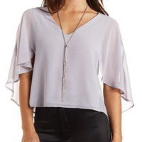 Caped Chiffon Swing Top by Charlotte Russe