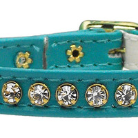 Breakaway or Safety Loop Czech Crystal Cat Collars - 9 Shades