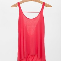 BKE Red Cowl Back Tank Top