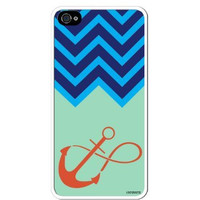 "Premium Direct Print Chevron Blue Turquoise Infinity Anchor iphone 6 PLUS Quality Hard Snap On Case for iphone 6 PLUS/Apple iphone 6 PLUS 5.5"" - AT&T Sprint Verizon - White Case PLUS Bonus RCGRafix The Best Iphone Business Productivity Apps Review Guide"