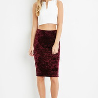 Crushed Velvet Bodycon Skirt
