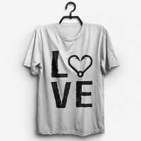 Love With Fish Hook Heart T-Shirt