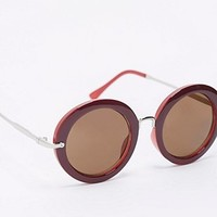 A.J. Morgan Heidi Round Sunglasses in Berry - Urban Outfitters