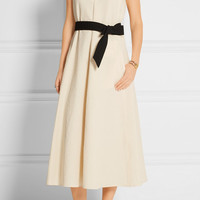 Lemaire - Belted cotton-cloqué dress