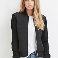 Raglan Bomber Jacket - Coats + Jackets - 2000163963 - Forever 21 UK