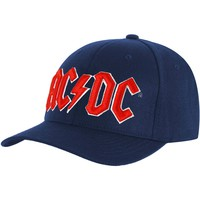 AC/DC Men's  Red Logo Baseball Cap Navy