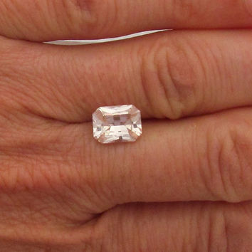 Radiant Cut Peach Champagne Sapphire 2.38cts for Engagement Ring Wedding Anniversary Ring