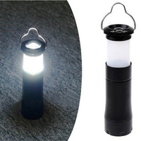 High quality Waterproof  Portable 3W 100LM  LED Camping Light Lamp Zoomable Retractable tent light use AAA Battery
