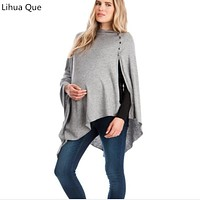 Maternity Clothing 2017 Multi-functional Mother Breast-feeding Blouse Autumn And Winter Women's Shawl Maternity Shirts