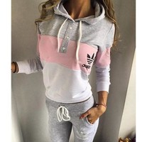 Adidas Multicolor Hoodie Sweater Pants Trousers Set Two-Piece