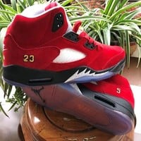 Trophy Room x Air Jordan 5 JSP Pack University Red - Best Deal Online