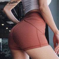 High Waist Workout Shorts Women Solid Tight Shorts Push Up Gym Fitness Short Pants Compression Yoga Shorts For Women Active Wear